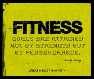 YellowFitnessGymPoster